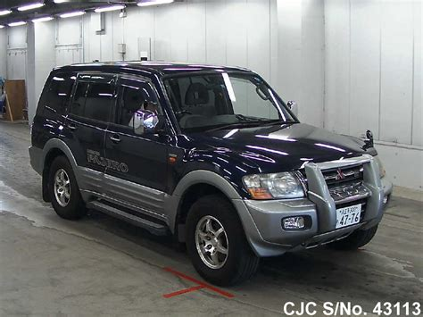 2001 mitsubishi pajero blue for sale stock no 43113 japanese used cars exporter
