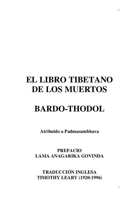 el libro tibetano de los muertos bardo thodol bardo el libro tibetano de los muertos padmasambhava