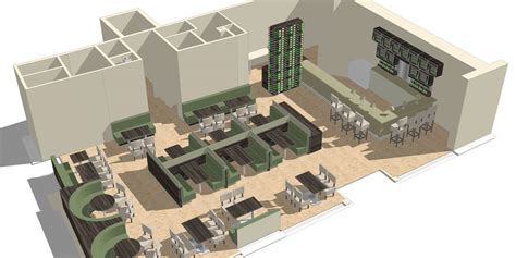 restaurant layout design 3d georgeson group