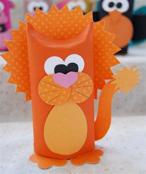 Toilet Paper Roll Craft - diy animal craft ideas with toilet paper rolls total