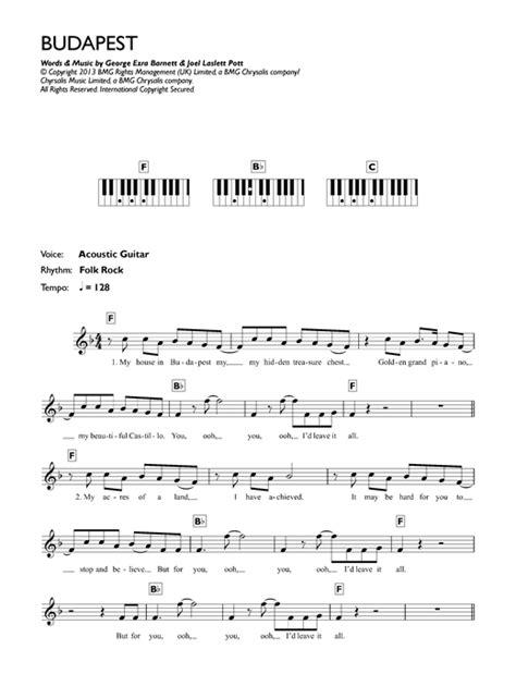 budapest by george ezra guitar chords lyrics guitar budapest sheet music by george ezra keyboard 121579
