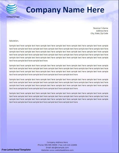 Business Letterhead Format In Word Free letterhead templates free new calendar template site