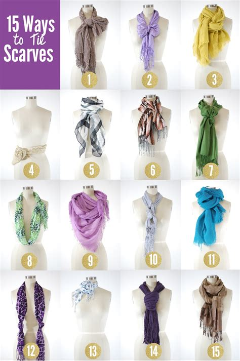 15 ways to tie scarves for streetlights
