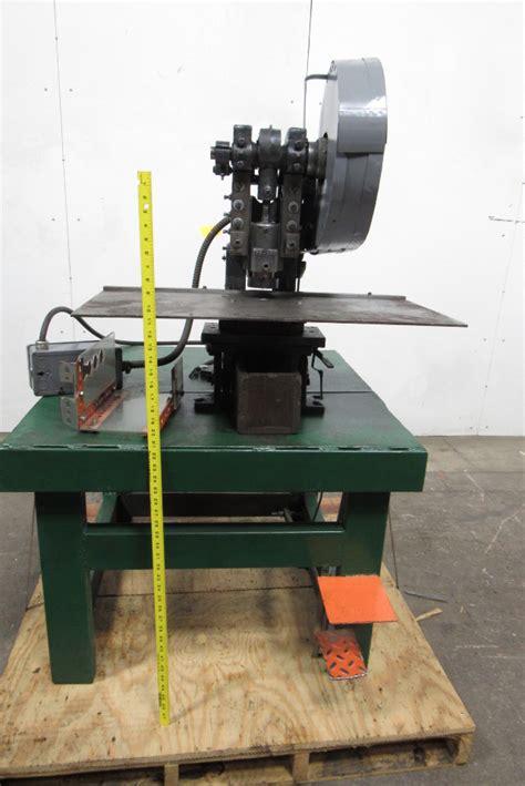 bench top punch press alva allen bt 5 obi 5 ton bench mount punch press 1 1 4