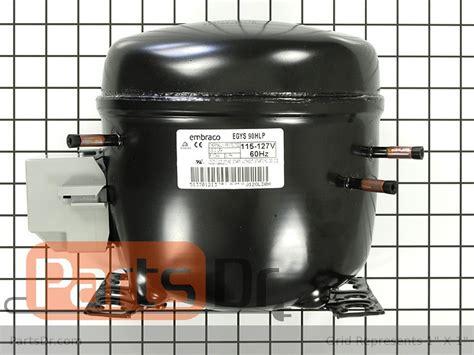 whirlpool refrigerator compressor kit parts dr