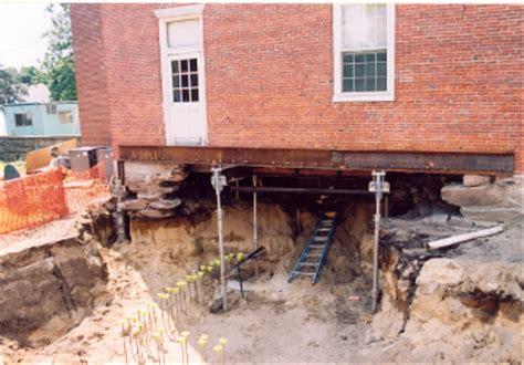 sinking foundation using helical pile underpinning
