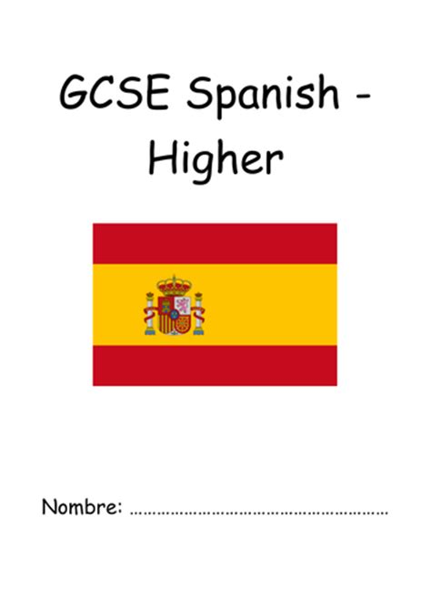 aqa gcse spanish higher aqa french new spec gcse pupil booklet foundation by uk teaching resources tes