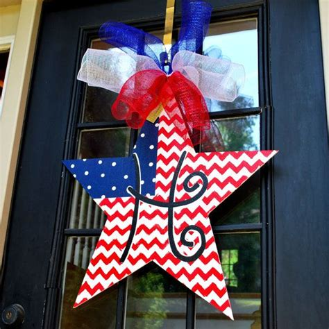 4th Of July Door Decorations by Fourth Of July Door Hanger 4th Of July Wreath Patriotic