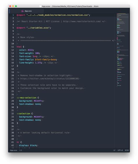 color themes sass mixup dark syntax