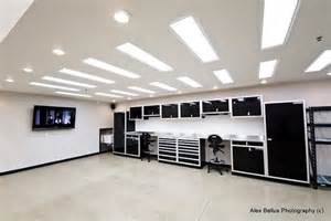 Best Lighting For Two Car Garage Black Cabinets Ultimate Garage Workshops