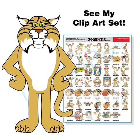 mascot clipart bobcat mascot clip bundle
