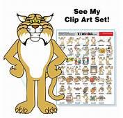 Bobcat Mascot Clip Art Bundle