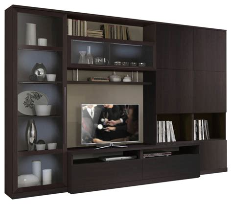 esf st wall unit wenge entertainment center modern