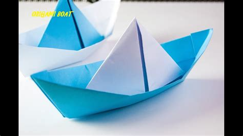 How To Make Japanese Origami - how to make origami boat japanese origami tutorial