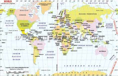 World Map Latitude And Longitude by World Map With Latitude And Longitude Dydara S Blog