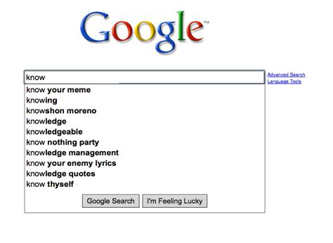 Google Memes - image 38419 google search suggestions know your meme