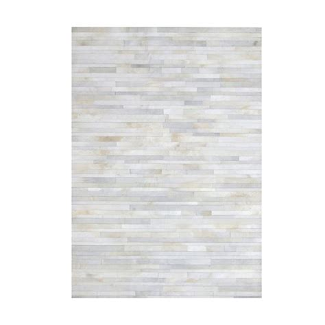 White Hide Rug Cowhide Leather Stripes White Rug Beyond Furniture