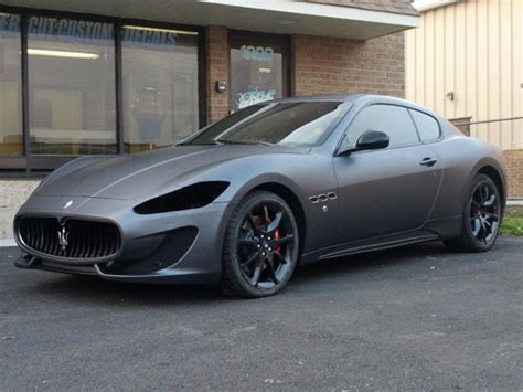 gray maserati 2013 maserati grand turismo gt wrapped in scotchprint