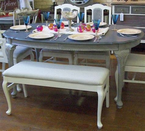 Grey Painted Dining Room Furniture Dining Room Table Painted Grey Brokeasshome