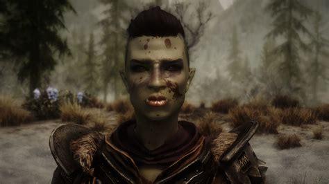 skyrim orc female face hatchet female orc preset at skyrim nexus mods and