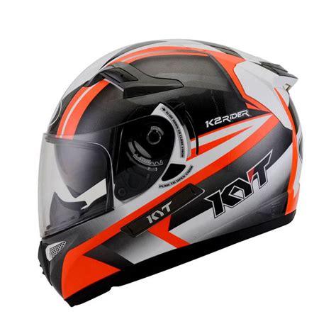 Helm Kyt K2 Rider Solid jual kyt k2 rider 2 fluo helm white gunmetal harga kualitas terjamin