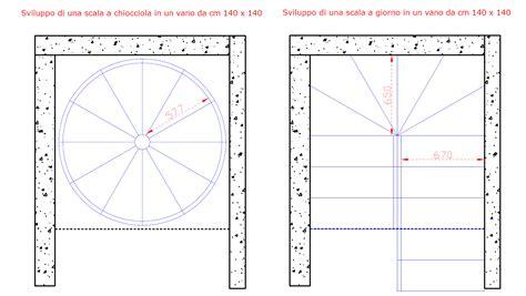 dimensioni scala interna disegno chiocciola il di roversi scale