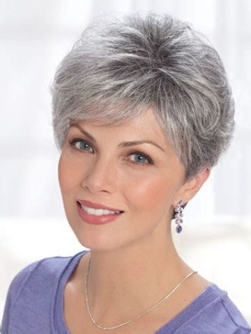 wigs for people over 50 short cury grey hair wig old people wigs sheswigs com
