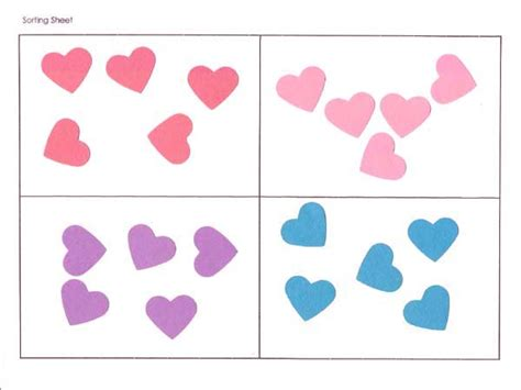heart pattern for preschool valentines theme prekinders