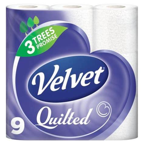 Quilted Velvet Toilet Tissue by Velvet Quilted White Toilet Rolls X 9 163 3 Was 163 4 46