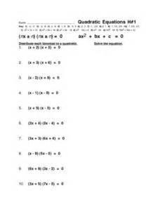 quadratic equations h 1 9th 12th grade worksheet