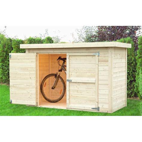 abri de jardin pour velo abri 224 v 233 los en bois massif 14mm brut cykel baltic