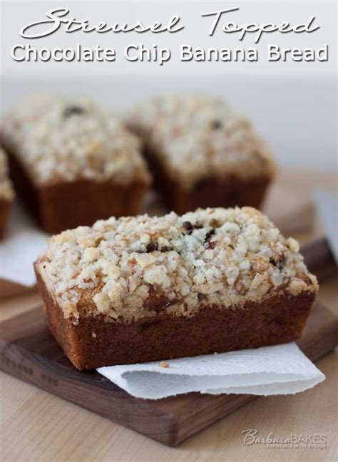 Additional Topping Choco Chips Streusel Topped Chocolate Chip Banana Bread From Things