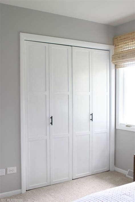 Adding Trim To Bifold Closet Doors - best 25 closet door makeover ideas on door