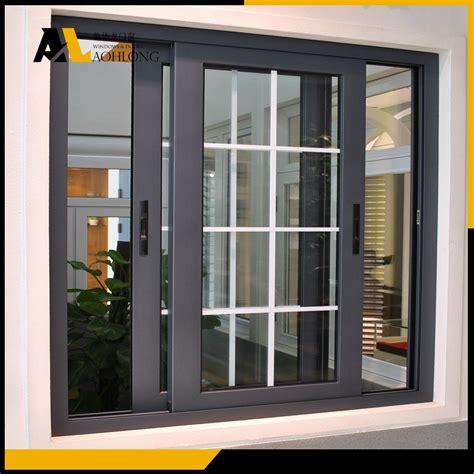 Secure Sliding Windows Decorating อล ม เน ยมอ ลลอยหน าต างบานเล อนแนวนอน ประหย ด Aohlong หน าต างและประต