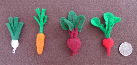 felt leek pattern tiny felt vegetables crafty green rabbit