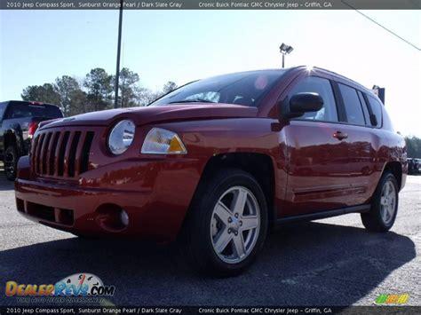 orange jeep compass 2010 jeep compass sport sunburst orange pearl dark slate