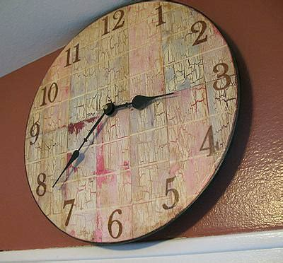 Decoupage Clock - paint chip clock decoupage tip junkie