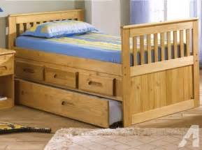 size captains bed with storage drawers trundle