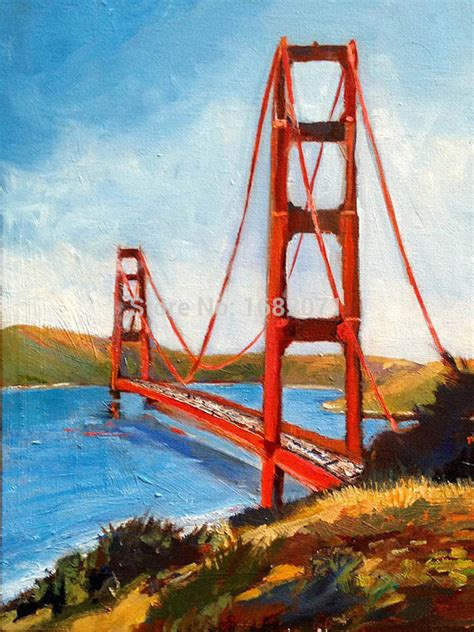 building painting aliexpress com buy usa famous building golden gate