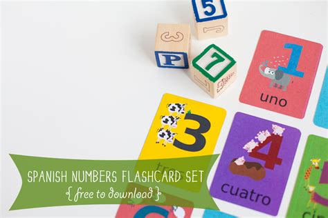 printable number flashcards in spanish spanish numbers language printable gus on the go