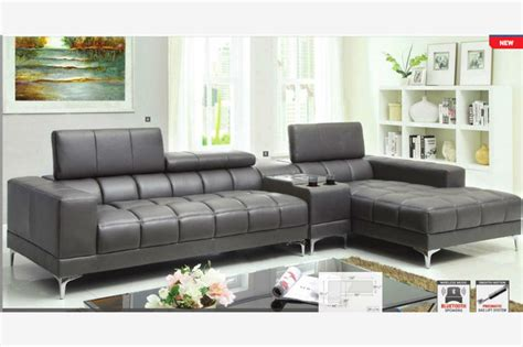 vidox upholstery modern gray sectional 28 images versa grey leather