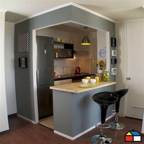 cocinas pequenas  barra como organizar la casa