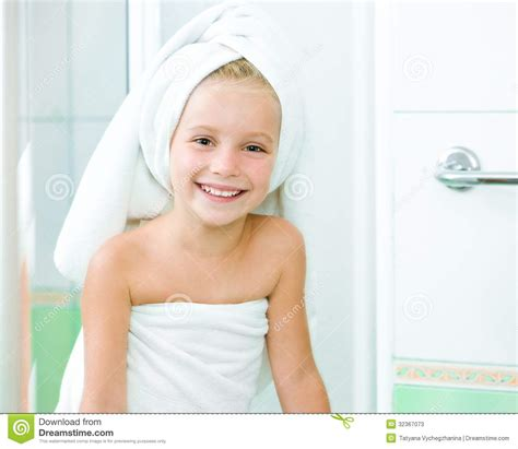 cute girls in bathroom cute little girl washing stock image image of beauty