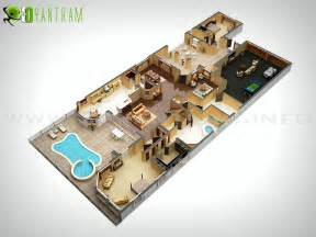 home layout planner 2d 3d cgi commercial rendering small house floor plan residential cut of wall site plan