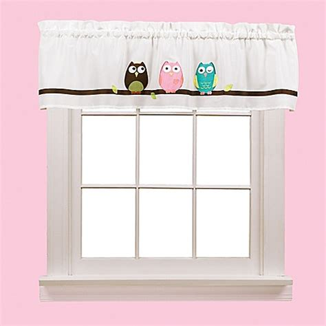 owl window curtains owl valance bed bath beyond