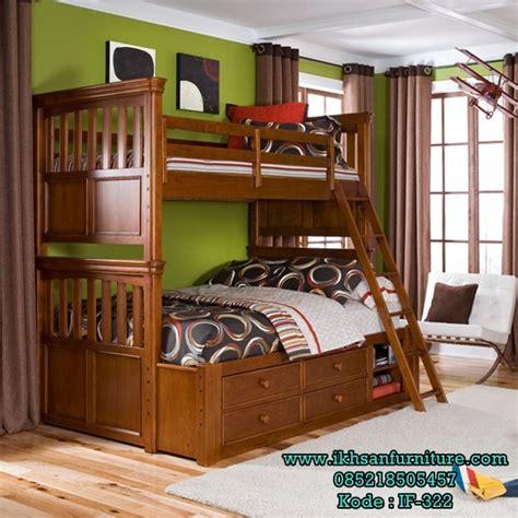 Tempat Tidur Kayu Jati Ukuran 120 jual tempat tidur 2 tingkat jati desain tempat tidur 2