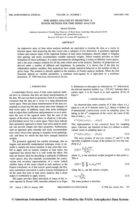 research paper on time series analysis time series analysis by projection ii pdf