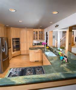 Kitchen Countertops Seattle Green Lightning Granite Countertop Traditional Kitchen Seattle By Pros Marble And