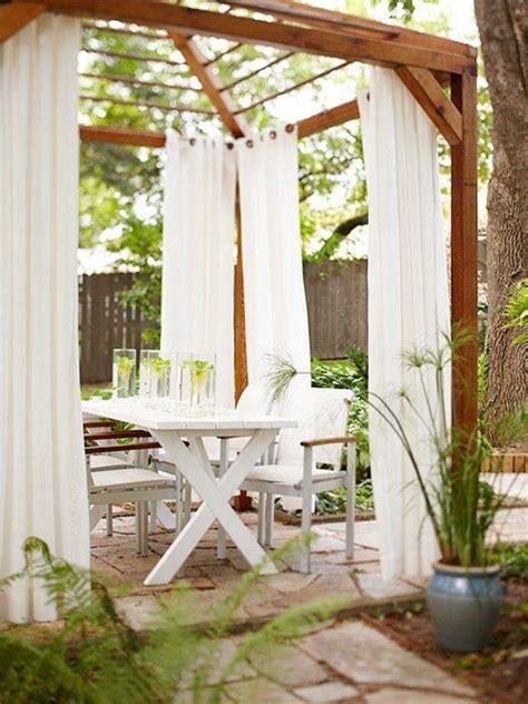terrasse vorhang terrasse et jardin d esprit rustique 23 id 233 es magnifiques