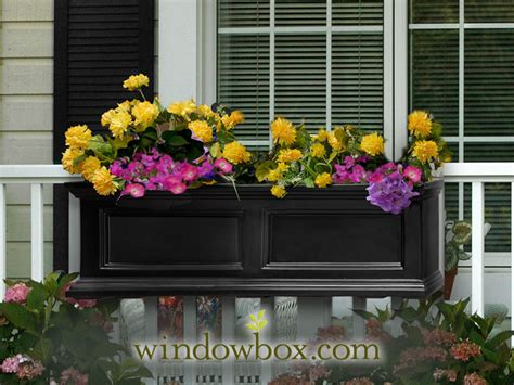 black window box prestige window box black self watering window boxes